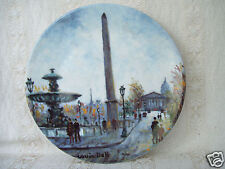 "LaPlace De La Concorde Made in France Imoges 8.5"" Approx Collector Plate"