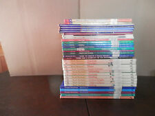 LOT OF 33 HARCOVERS EDUCATIONAL HOME SCHOOLING MATH MACHINE LANGUAGE ARTS MAPS