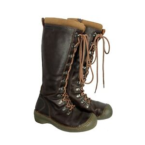Keen Clara Leather High Boot Women's sz 6 Brown Insulated Lace-Up Side Zip