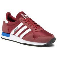 Scarpe Uomo Sportive Adidas USA 84 Bordeaux Casual Sneaker Tessuto Leggera