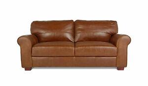 Salisbury 3 Seater Leather Sofa - Tan