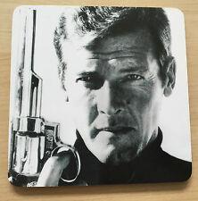 Objet de collection james bond 007 Tasse Liège Coaster place mat Rétro Roger Moore