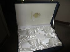 Set of 4 Faberge Glacon Highball Glasses White Cased Crystal In Box New