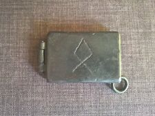 wallet pocket tin odin rune dieselpunk goth heavy metal apocalyptic