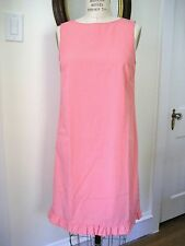 J CREW Light Coral Polyester/Rayon Blend Shift Dress, Size 6