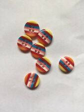 10 Cute Rainbow Candy Button For Art Project/ Sewing/ Scrapbook Cute