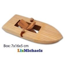 FUN FACTORY WOODEN PADDLE BOAT Powered by Rubber Band Water Play Bath Toy Game