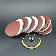 65PCS 4INCH Sander Disc Flocking Sanding pad Polishing pad + M14 Backer Plate