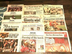 (Pick) SF Newspaper San Francisco 49ers Giants Champs (Bonds Montana Superbowl)