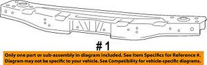 CHRYSLER OEM Radiator Core Support-Upper Tie Bar 5156109AB