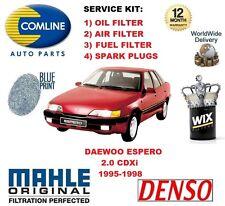 DAEWOO ESPERO 2.0 CDXi 1995-1998 OIL AIR FUEL FILTER + SPARK PLUGS SERVICE KIT