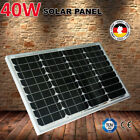 NEW Aussie 40W 12V Portable Solar Panel Monocrystalline Cells Home Boat Camping