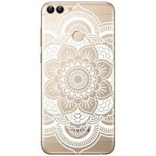 Huawei P Smart Coque souple et résistante avec impression (Rosace Blanche)