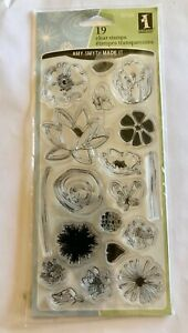 Inkadinkado Clear Rubber Stamps Flowers 19 Stamps 97725 NEW