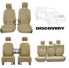 Inka Land Rover Discovery 4 Custom Seat Cover Set Beige 1st 2nd 3rd Row