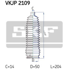 Faltenbalgsatz Lenkung - SKF VKJP 2109