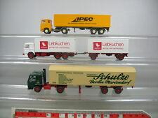 ab177-0,5 # 3x WIKING H0 Camión/MODELOS: Scania IPEC ,Man blanco,VOLVO Escuela