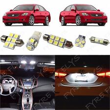 9 Piece white LED interior conversion package kit and license plate lights NA5W