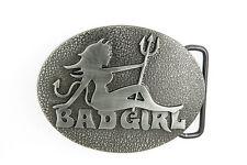 Mud Flap Devil Bad Girl Novelty Metal Belt Buckle