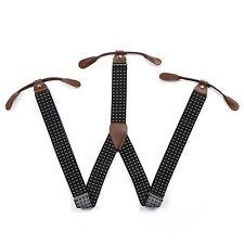 New Men's 6 Buttons Holes Adjustable Unisex Suspenders Women's Braces BD751