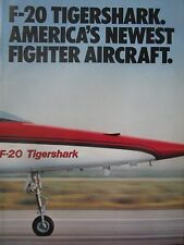 12/1982 PUB 4 PAGES NORTHROP F-20 TIGERSHARK USAF TACTICAL FIGHTER ORIGINAL AD