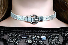Submissive day collar choker necklace slave gift vegan leather psychedelic boho