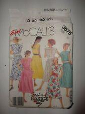 McCalls 3075 Misses Open Back Dress Sz 12 Uncut
