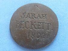 UNITED KINGDOM LOVE TOKEN SARAH BECKETT 1802 £16.50 UK POST PAID (528