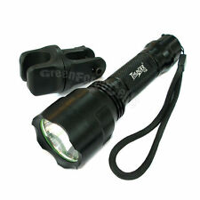 TC8 CREE XM-L T6 5 Mode 1300 LM Lumens Flashlight Torch + 360?Mount Holder