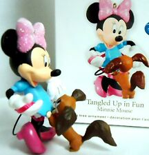 HALLMARK 2012 Tangled Up in Fun Minnie Mouse Disney Ornament New in Box