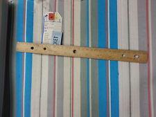 "Per Yard x 26.5"" Vintage 100% Silk Ecru/Shark/Rose/Mariner/White Striped Fabric"