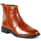 Delli Aldo Men's Round Toe Dress Ankle Boots Shoes w/ Leather Lining M-606003