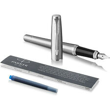 Parker Urban Fountain Pen, Metro Metallic, Medium Nib with Blue Ink Refill
