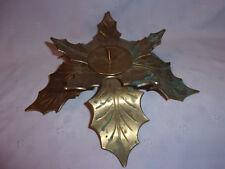 "Bronze Leaf Large Candle Holder Patina Heavy Duty 11"" Patio Holiday Decor"