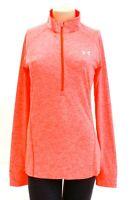 Under Armour Marathon Red UA Tech 1/2 Zip Twist Long Sleeve Shirt Women's NWT