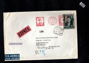 # SPAIN, BULGARY 1963 - COVER - KENNEDY