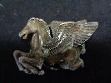 """1970's Vintage Pegasus Horse Belt Buckle 3"""" X 2"""" (Oay61)"""