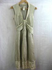 Cue Size 10 Cream Formal Gold Dress and Jacket Suit