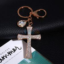 Cross Crystal Rhinestone Key Ring Charm Pendant Purse Bag Cute Keychain  HighQ c1282c2330