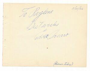 Eddie Arcaro -  3x Triple Crown - Autograph - Circa 1956 - Signed Album Page