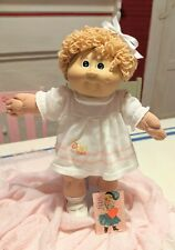 Triple Hk cabbage patch kids girl doll with rare white ducky dress