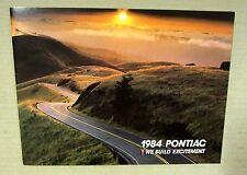 ORIGINAL 1984 PONTIAC Sales Brochure FIERO Coupe Trans AM Firebird Sunbird 58p