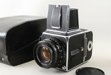 [NEAR MINT!!] Hasselblad 500 CM 80mm C T* A12 magazine 500CM w/Leather Case #179