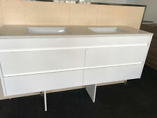 1500MM BATHROOM VANITY /SOFT CLOSING DRAWER HIDDEN HANDLES STONE TOP