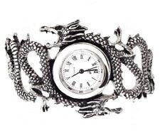 Imperial Dragon Dos Yin Yang Peltre Reloj de Pulsera AW16 Alchemy Gothic