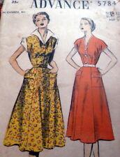 LOVELY VTG 1950s DRESS ADVANCE Sewing Pattern 12/30