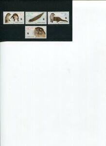 1987 WWF GERMANY Otter 4V MNH POSTFREE Australia ONLY