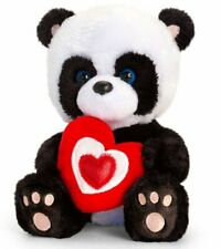 Keel Toys PIPP the PANDA BEAR Sitting Soft Toy with RED HEART 15cm