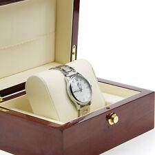 High Polish Single Wooden Watch Box Organizer Case Storage Cherry Red