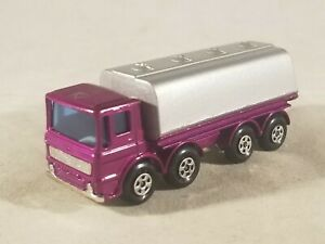 Matchbox 32 Leyland Tanker / Rare Purple & Silver Special Edition NAMC No Labels
